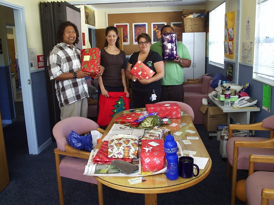 Christmas gifts donated by local business Dec 2007